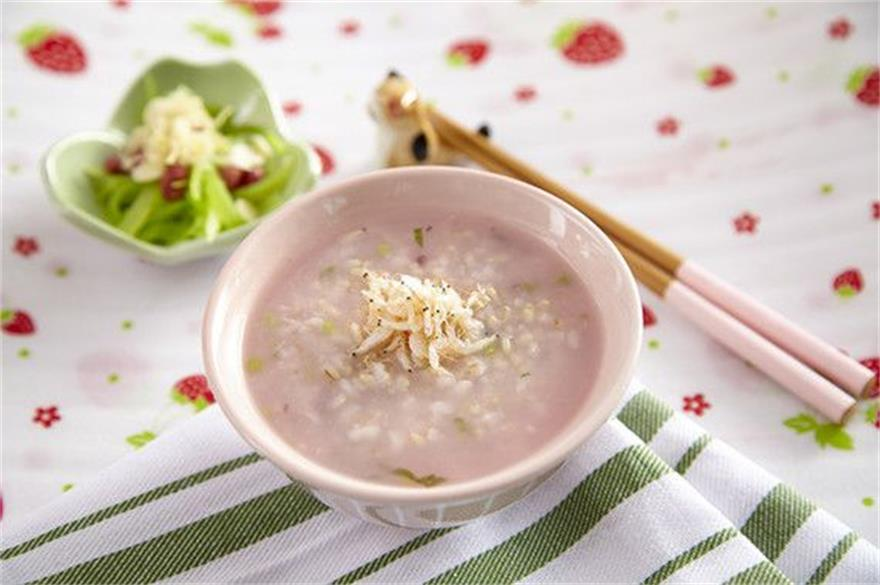 蝦米莧菜粥