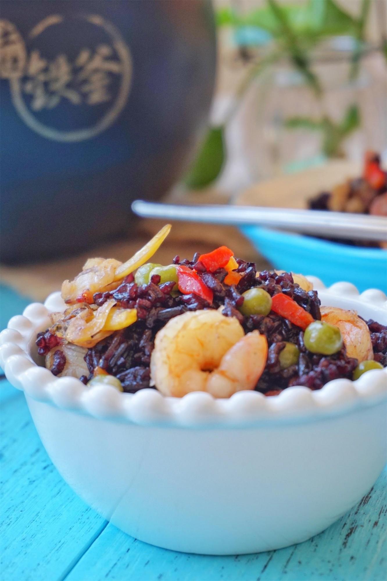 紫米海鲜饭